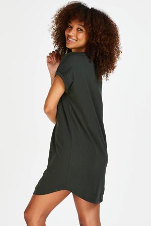 nachthemd met printopdruk donkergroen