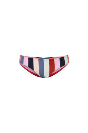 gestreept brazilian bikinibroekje Maoi rood/blauw