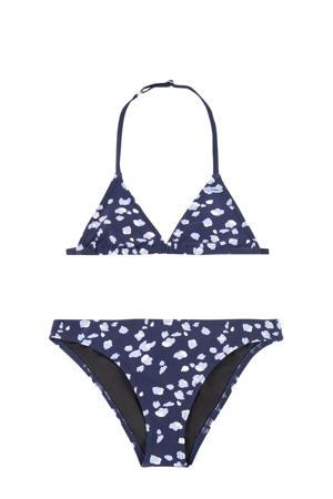 triangel bikini Venice met all over print donkerblauw