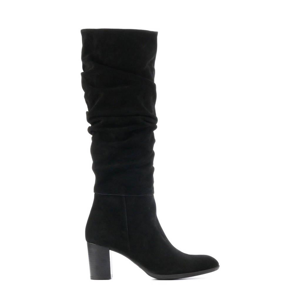 Lamica Egemma  suède laarzen zwart, Zwart