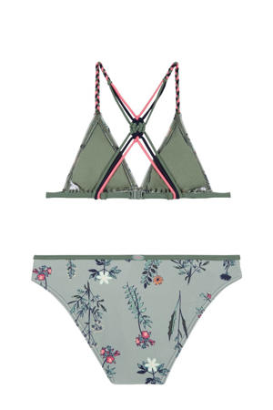 triangel bikini Tropics met all over print groen