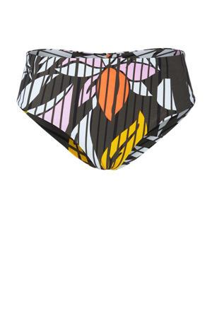 omslag bikinibroekje Malta met all over print donkergroen