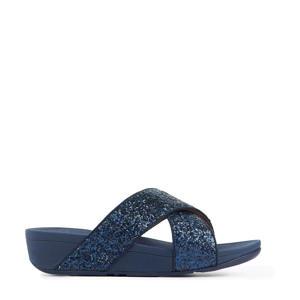 Lulu Slide Glitter  slippers met glitters blauw