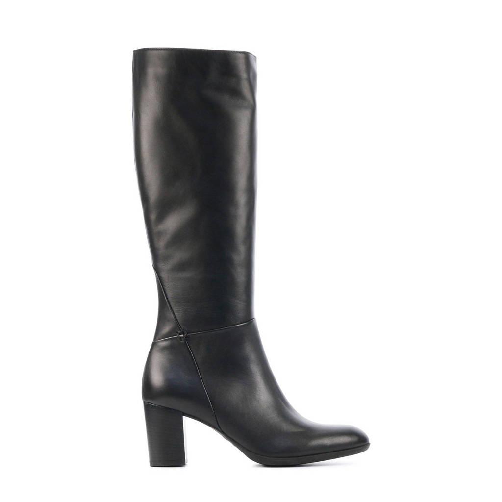 Lamica Edette  leren laarzen zwart, Zwart