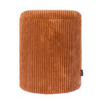 Riverdale opberg poef Luka rib brique (44cm), Oranje