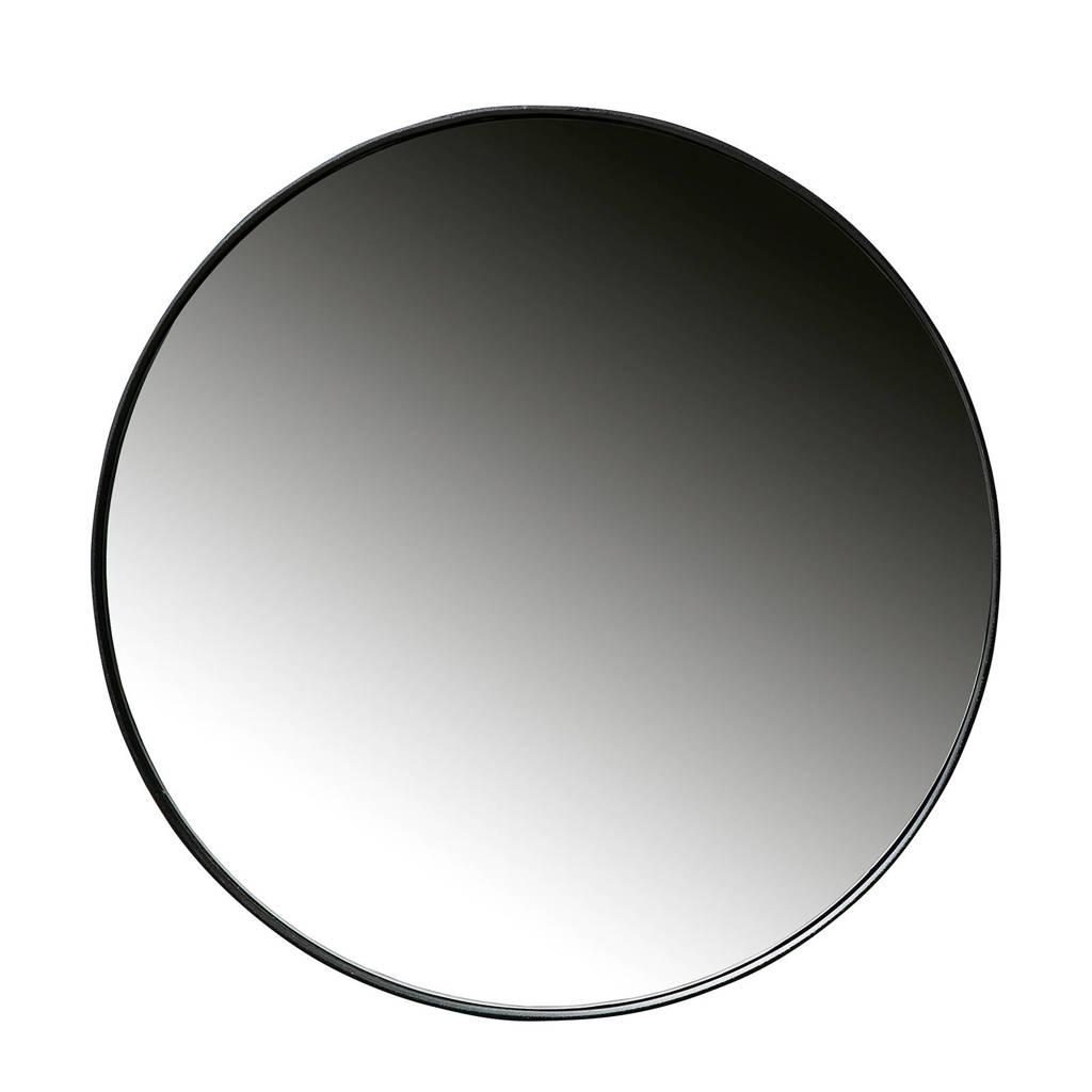 Woood spiegel Doutzen (Ø80 cm), Zwart