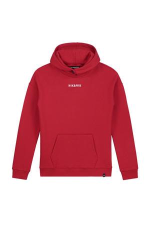 hoodie Moses met logo rood