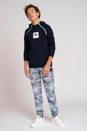 hoodie Maks met logo donkerblauw