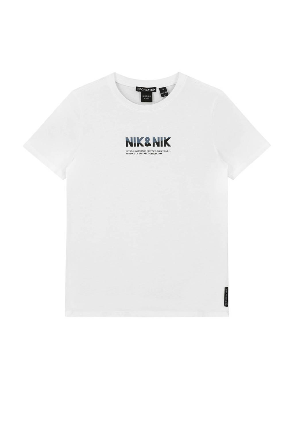NIK&NIK T-shirt Lenox met logo off white, Off White
