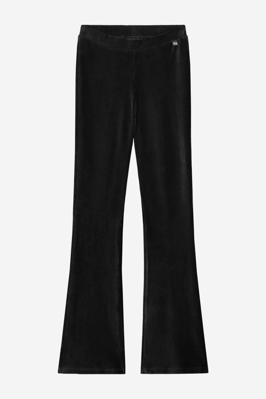 NIK&NIK fluwelen flared legging Farica zwart, Zwart
