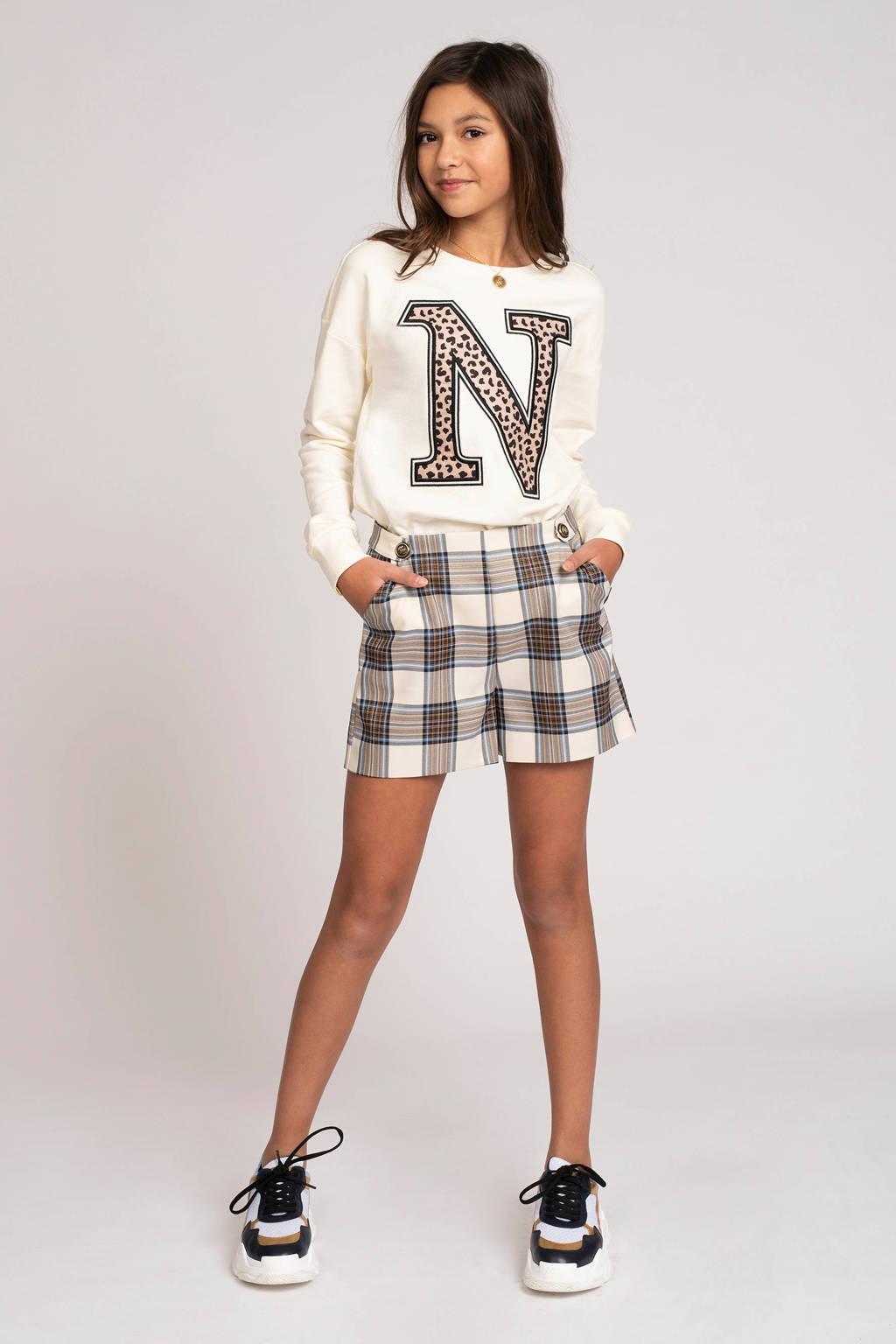 NIK&NIK sweater Poloma met printopdruk off white, Off White
