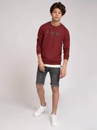 NIK&NIK sweater Milo met logo donkerrood, Donkerrood
