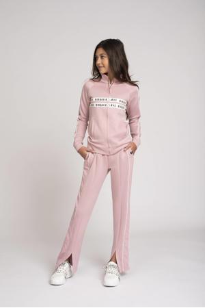 joggingbroek Paige met zijstreep roze