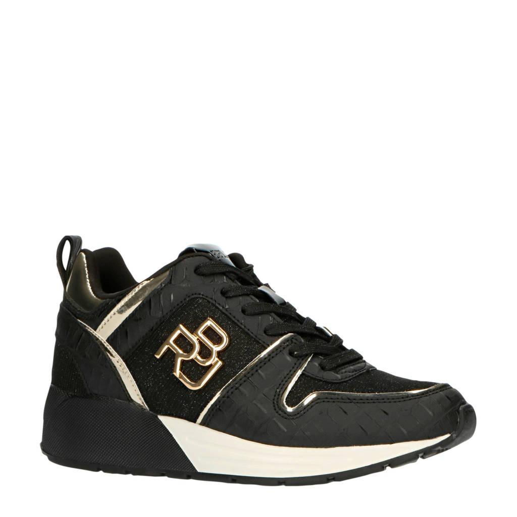 REPLAY Ice  sneakers zwart/goud, Zwart/goud