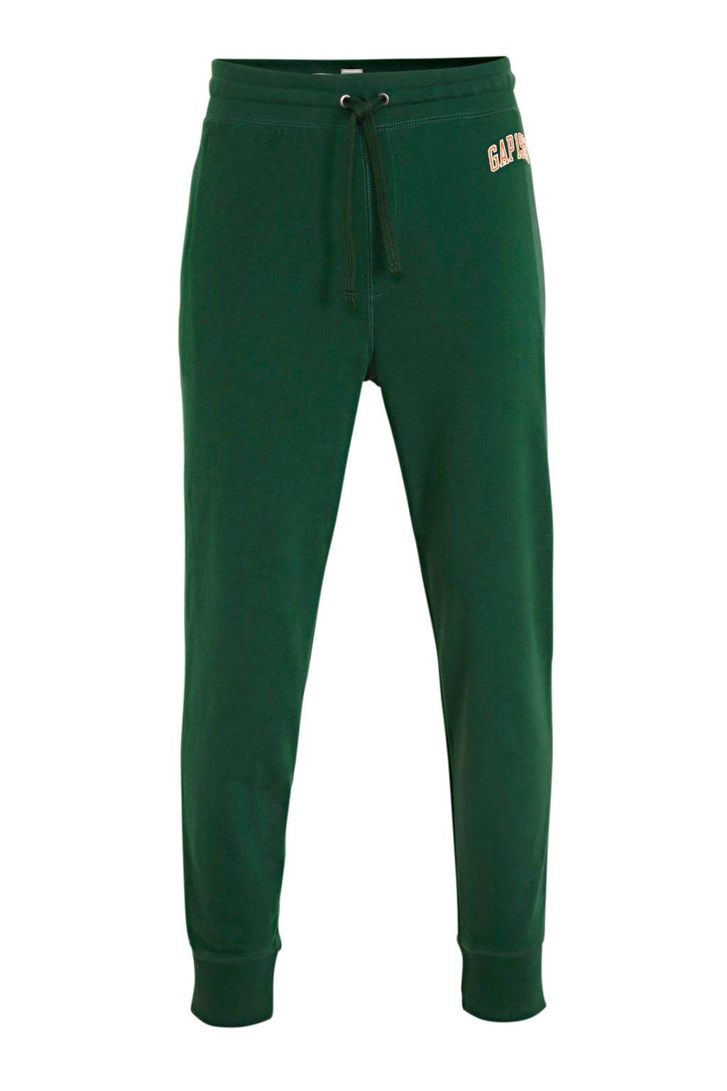 GAP straight fit joggingbroek met logo groen, Groen