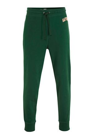 straight fit joggingbroek met logo groen