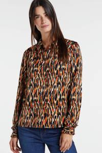 VERO MODA blouse met all over print oranje, Oranje