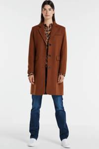 SELECTED FEMME coat met wol roestbruin, Roestbruin