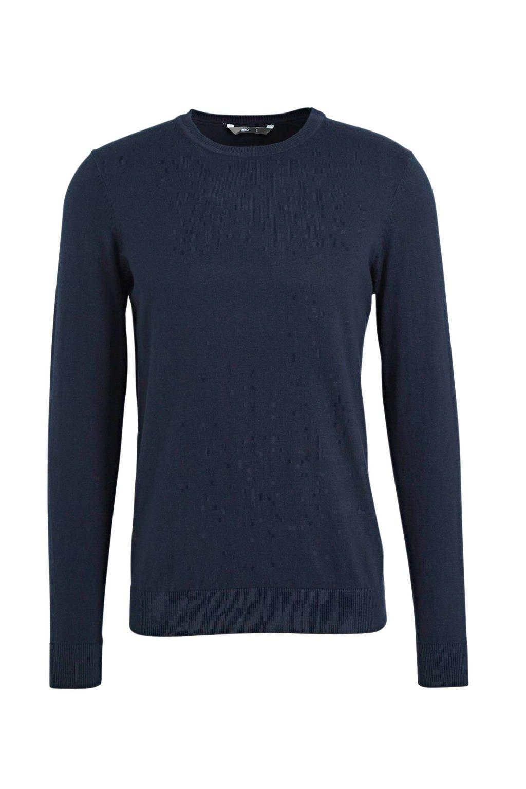 HEMA trui donkerblauw, Donkerblauw