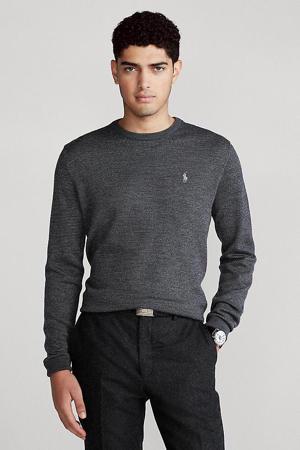 gemêleerde wollen trui grijs
