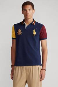 POLO Ralph Lauren slim fit polo marine/groen/rood/geel, Marine/groen/rood/geel