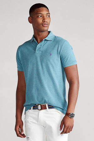 slim fit polo turquoise