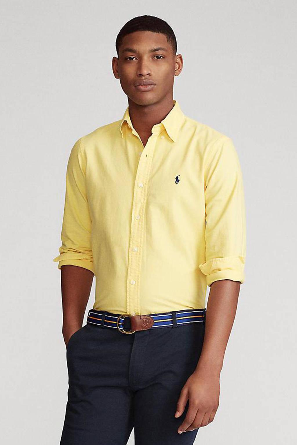 POLO Ralph Lauren regular fit overhemd geel, Geel