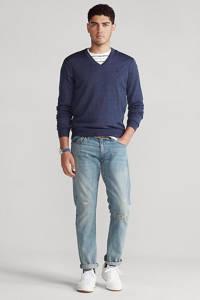 POLO Ralph Lauren fijngebreide wollen trui blauw, Blauw