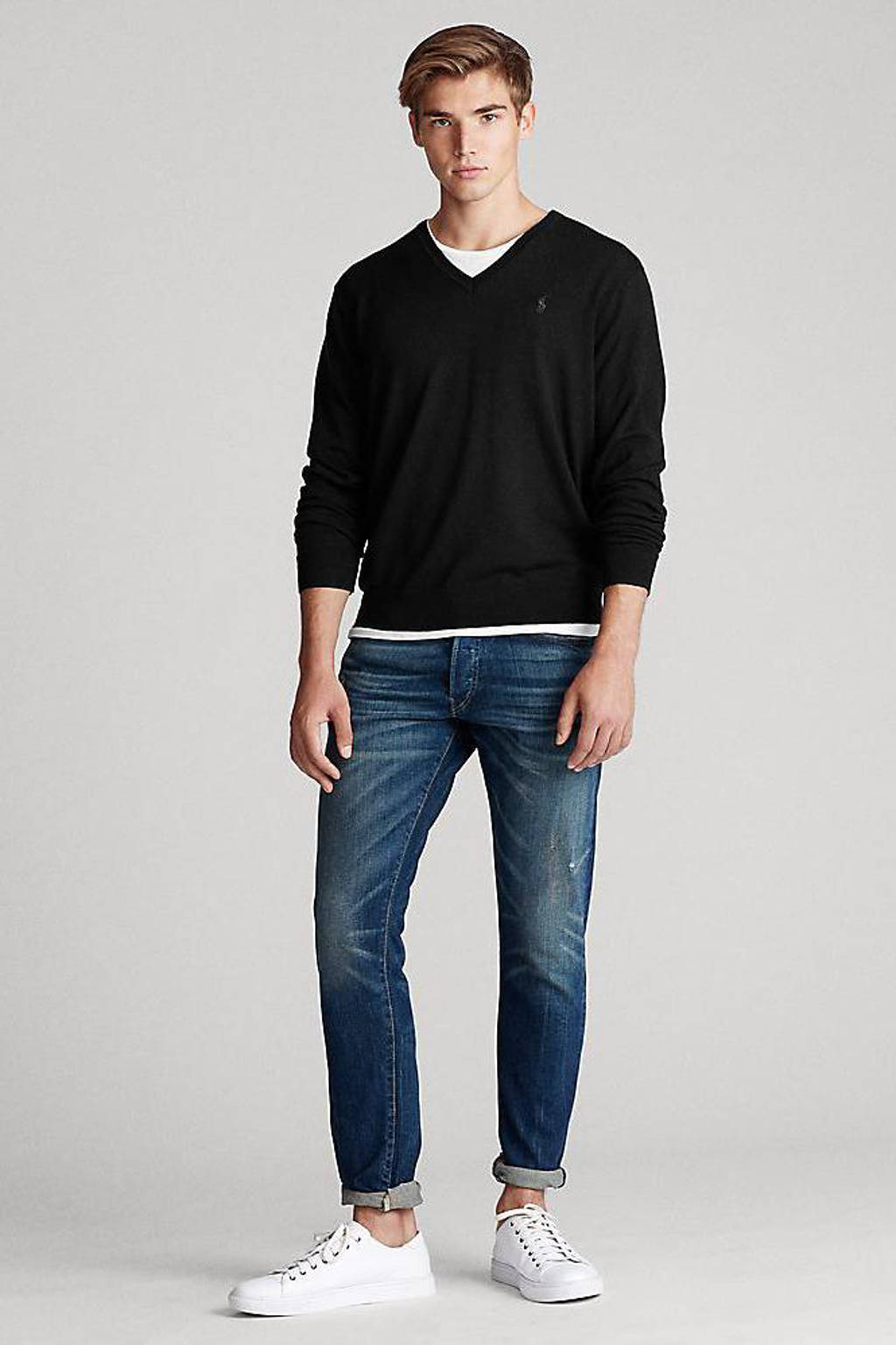 POLO Ralph Lauren wollen trui zwart, Zwart
