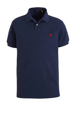 regular fit polo donkerblauw