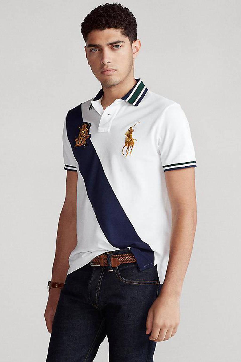 POLO Ralph Lauren regular fit polo met printopdruk wit, Wit