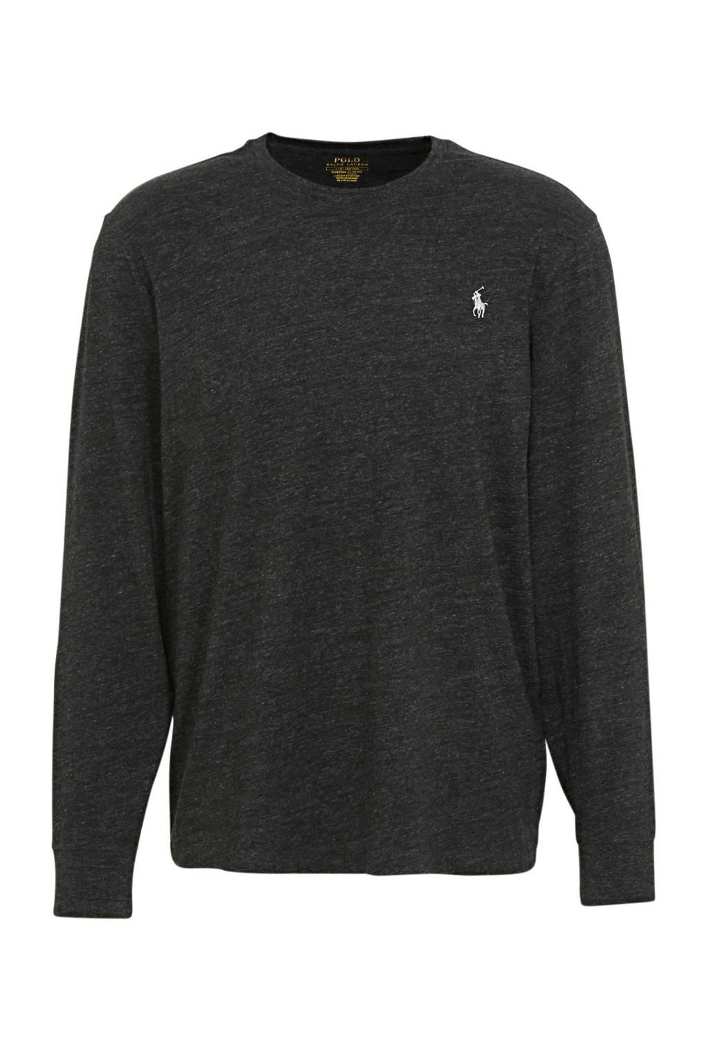 POLO Ralph Lauren gemêleerde fijngebreide trui zwart, Zwart