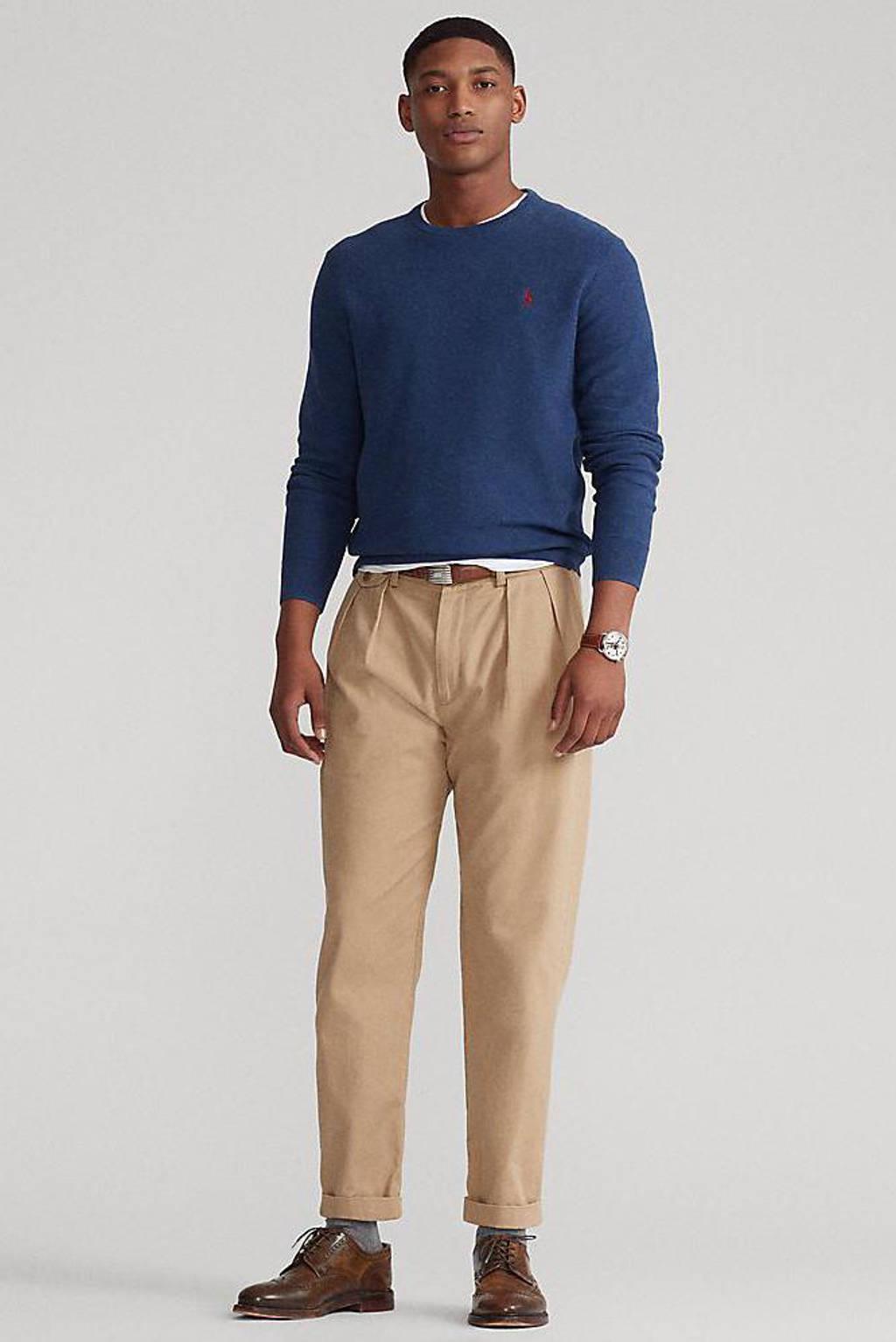 POLO Ralph Lauren fijngebreide trui blauw, Blauw