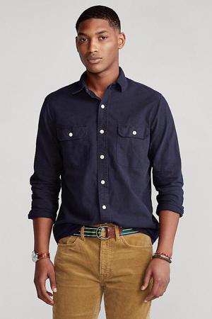 regular fit overhemd marine