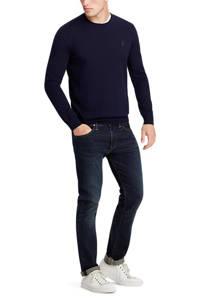 POLO Ralph Lauren fijngebreide wollen trui donkerblauw, Donkerblauw