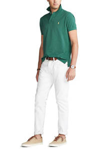 POLO Ralph Lauren slim fit polo groen, Groen