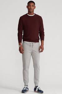POLO Ralph Lauren trui met textuur donkerrood, Donkerrood