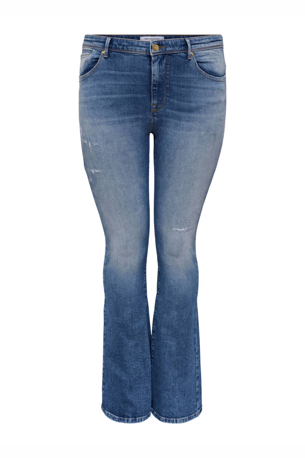 ONLY CARMAKOMA bootcut jeans Baroll blauw, Blauw