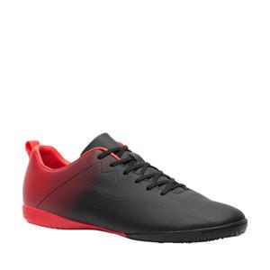 Sr. zaalvoetbalschoenen zwart/rood