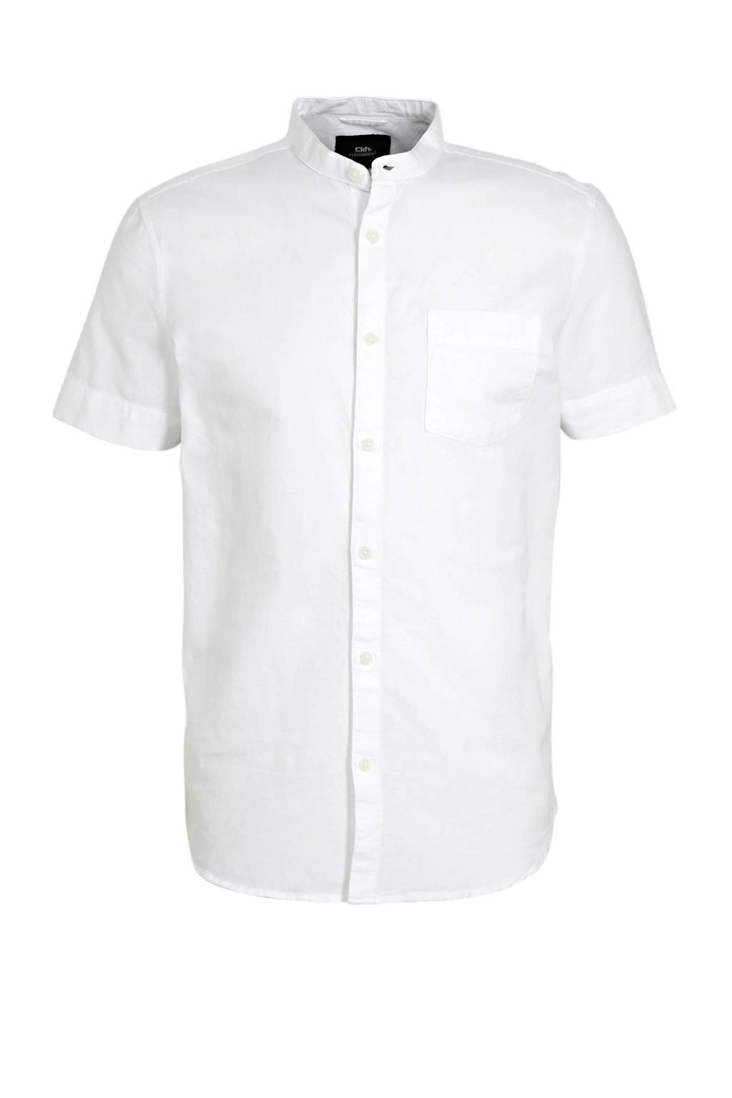 C&A Clockhouse slim fit overhemd van biologisch katoen wit, Wit