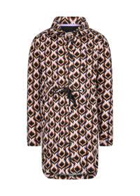 4funkyflavours blousejurk Jazzin met all over print bruin/lila/zwart, Bruin/lila/zwart