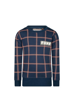 geruite sweater Untouchable Funk blauw