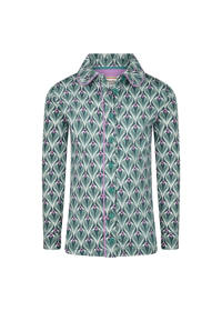 4funkyflavours blouse Mainline Disco met all over print groen/lila, Groen/lila
