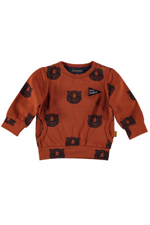 B.E.S.S baby sweater met all over print brique