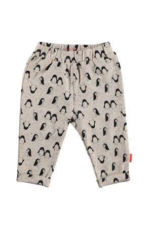B.E.S.S baby regular fit broek met all over print zand