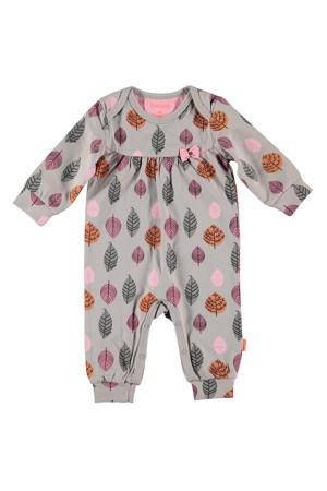 B.E.S.S baby boxpak met all over print grijs/roze/oranje