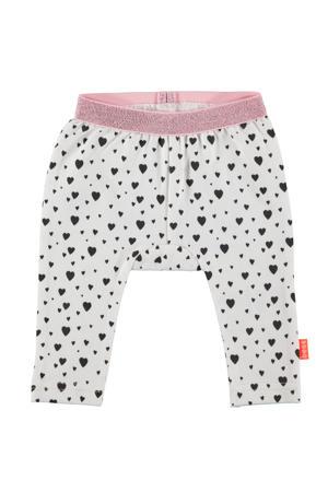 B.E.S.S baby regular fit broek met hartjes wit/blauw/roze