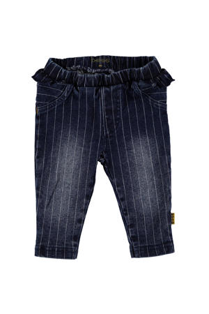 B.E.S.S baby gestreepte regular fit jeans stonewashed