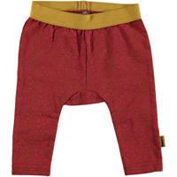 B.E.S.S baby broek met panterprint rood/okergeel, Rood/okergeel