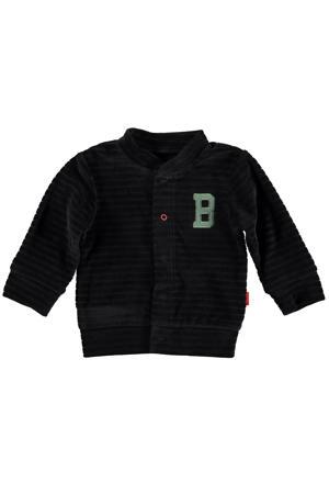 B.E.S.S baby fluwelen vest antraciet